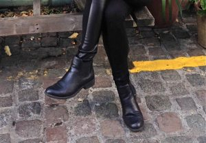 boots et leggings bimatière de la marque Etam