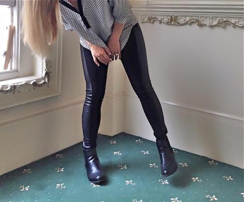 legging stretch bi matière de la marque Etam