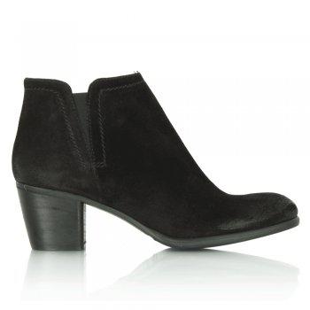 ankle boots en cuir à talons noir black