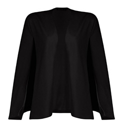 veste cape noire boohoo pour la paris fashion week