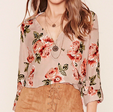 forever 21 floral top - blouse fleurie