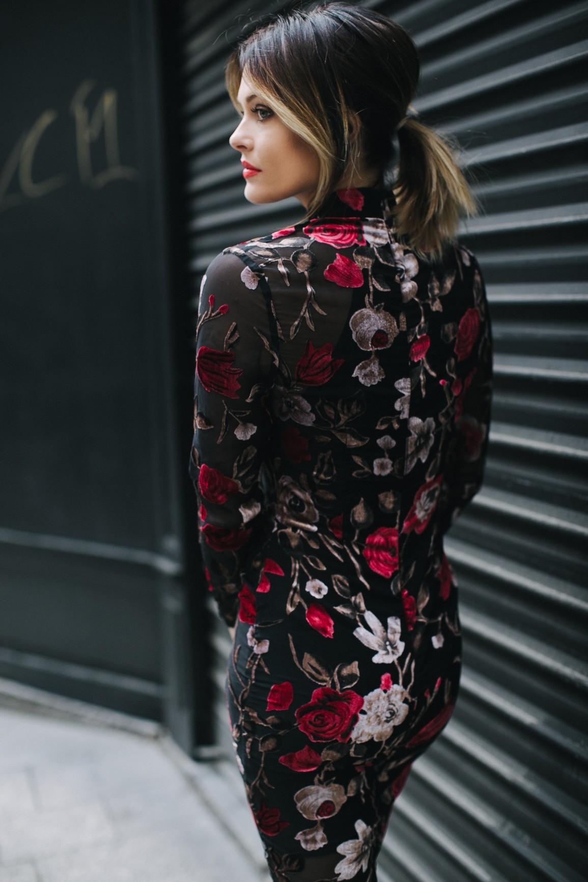 robe mi-longue fleurie caroline receveur pour missguided
