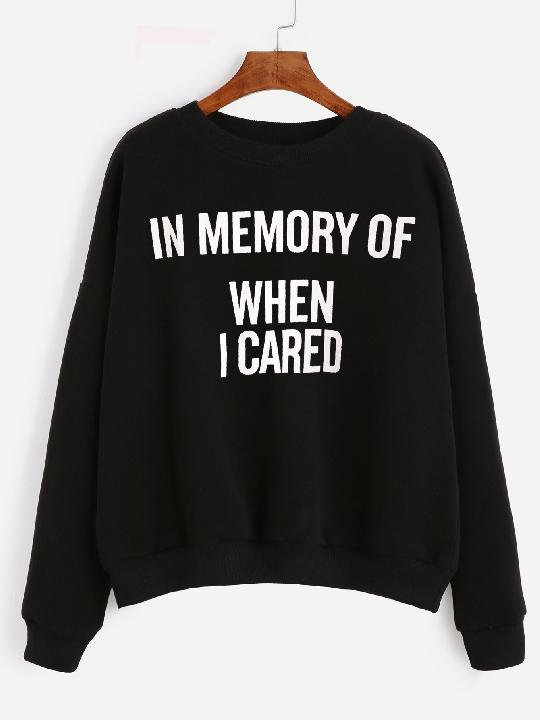 sweater sportswear noir inscription