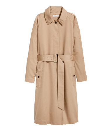 trench camel h&m