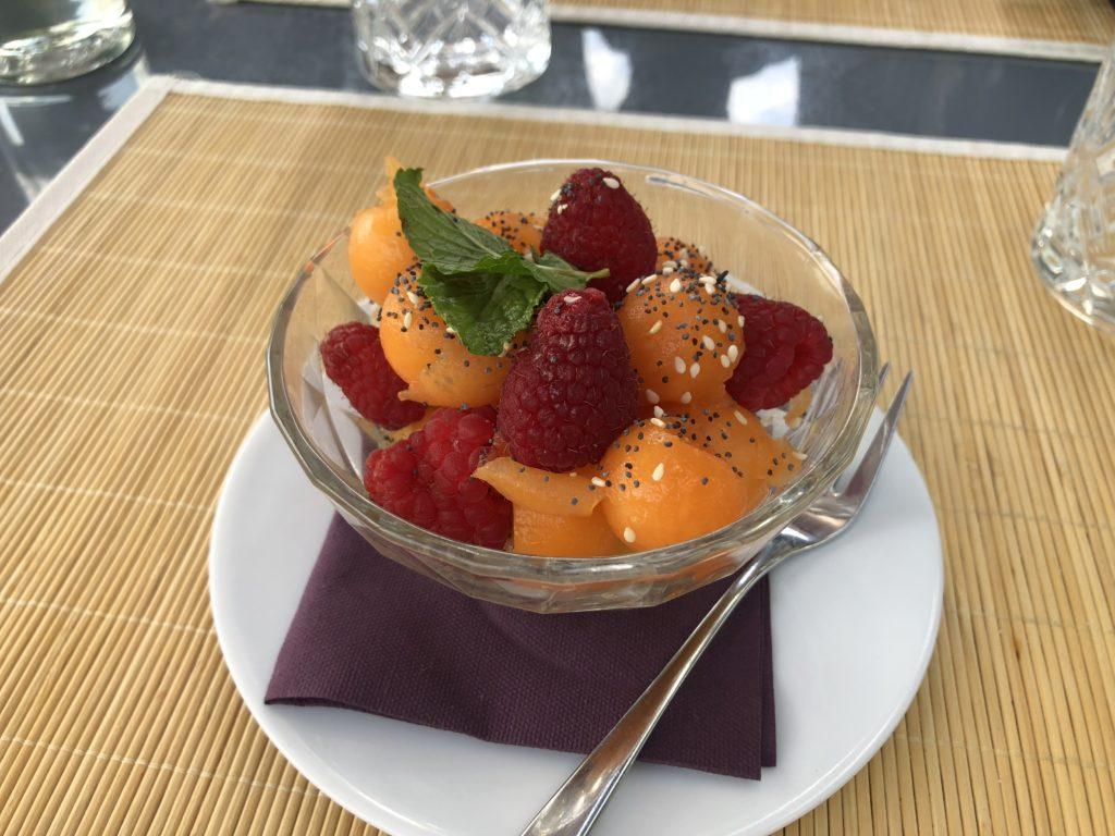dessert au restaurant du domaine de bellevue