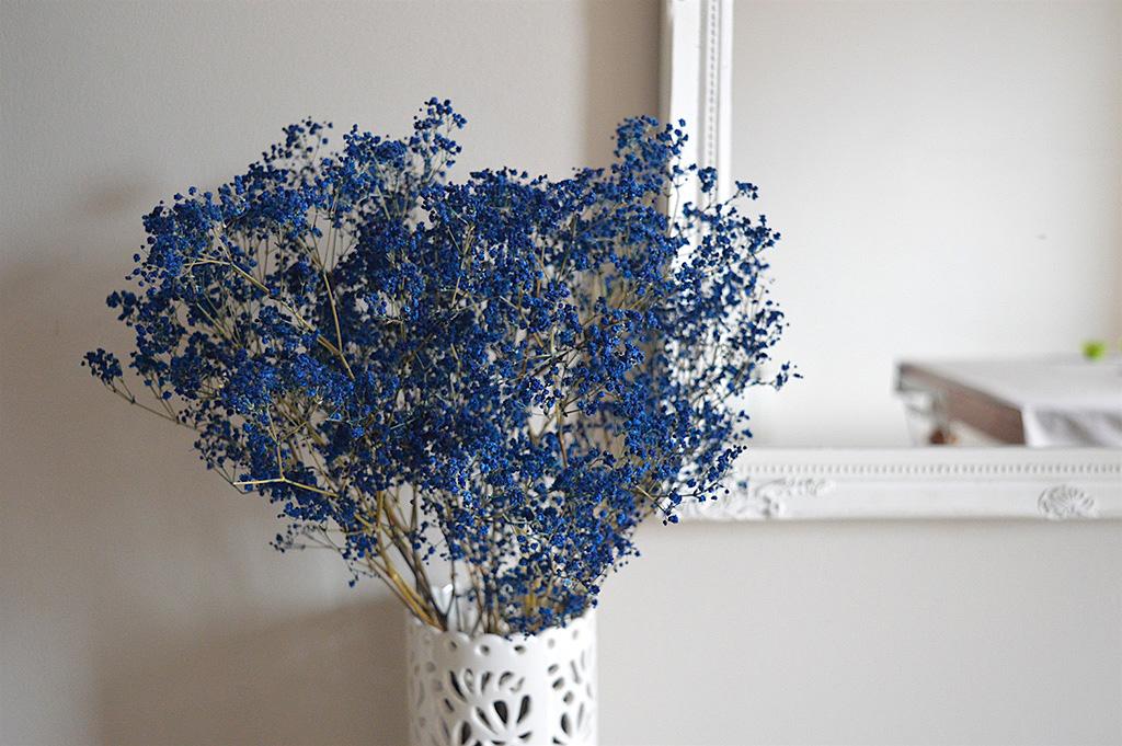 bouquet de fleurs bleues